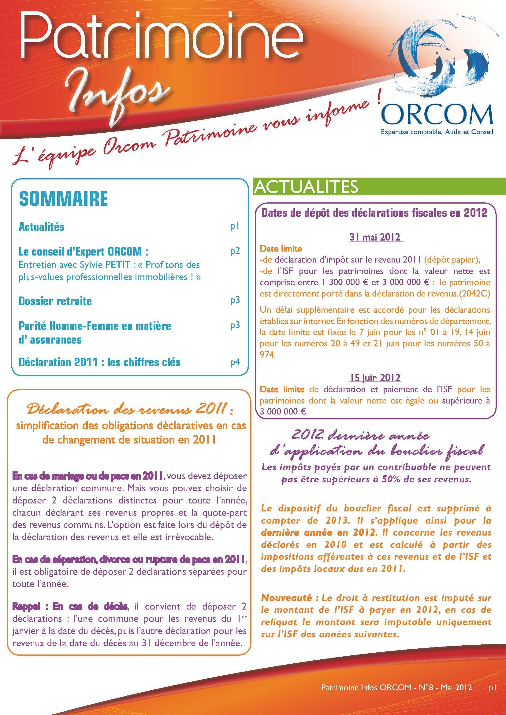 patrimoine infos orcom