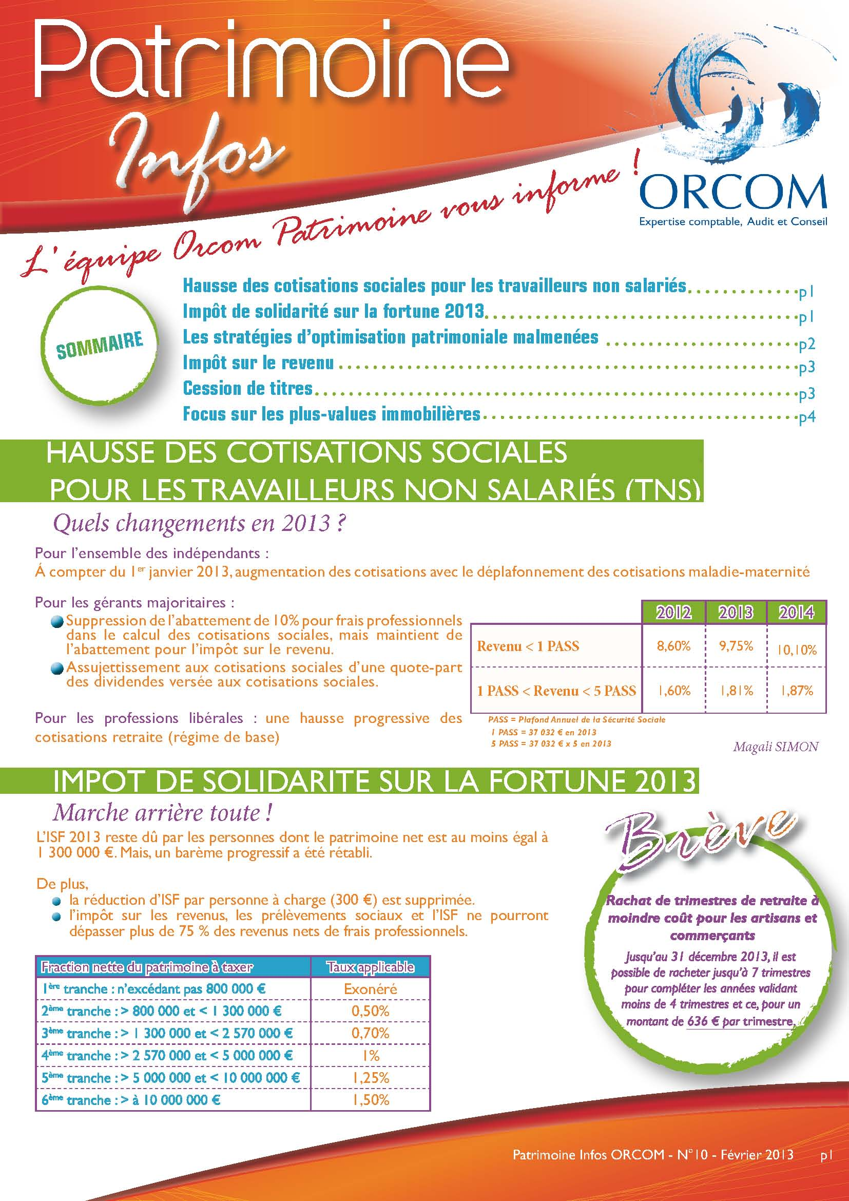 Patrimoine info orcom fiscalité conseil