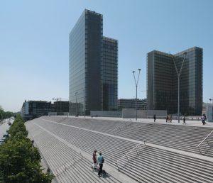 Photo de la Bibliothèque de France (BNF) située dans le 13ème arrondissement de Paris