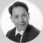 Photo en noir et blanc expert-comptable Olivier DUPUY