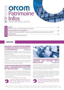 Patrimoine Infos n°27