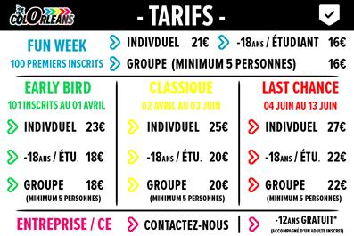 Tarifs Colorleans