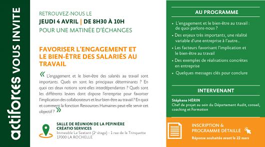Réunion d'information « Favoriser l'engagement et le bien-être des salariés »