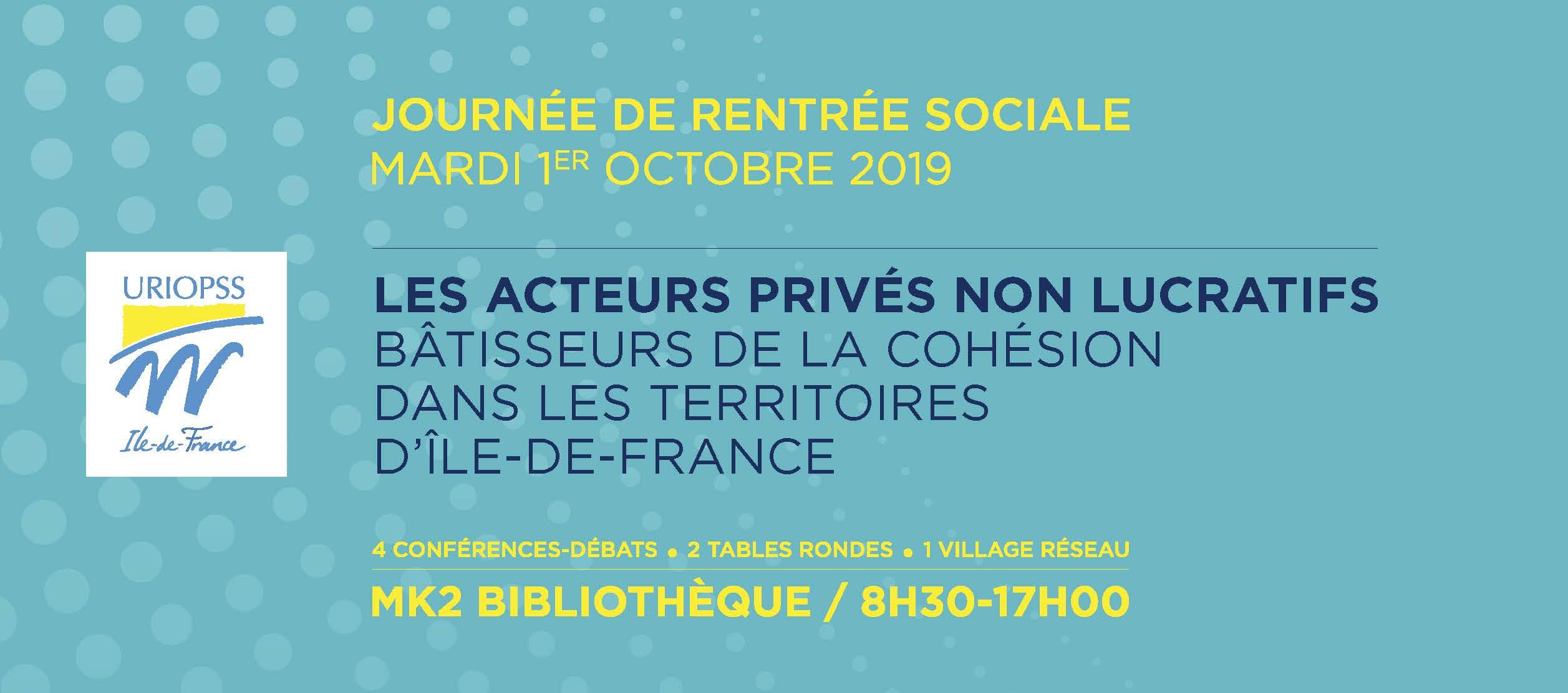 Journée de Rentrée Sociale 2019 URIOPSS Ile-de-France
